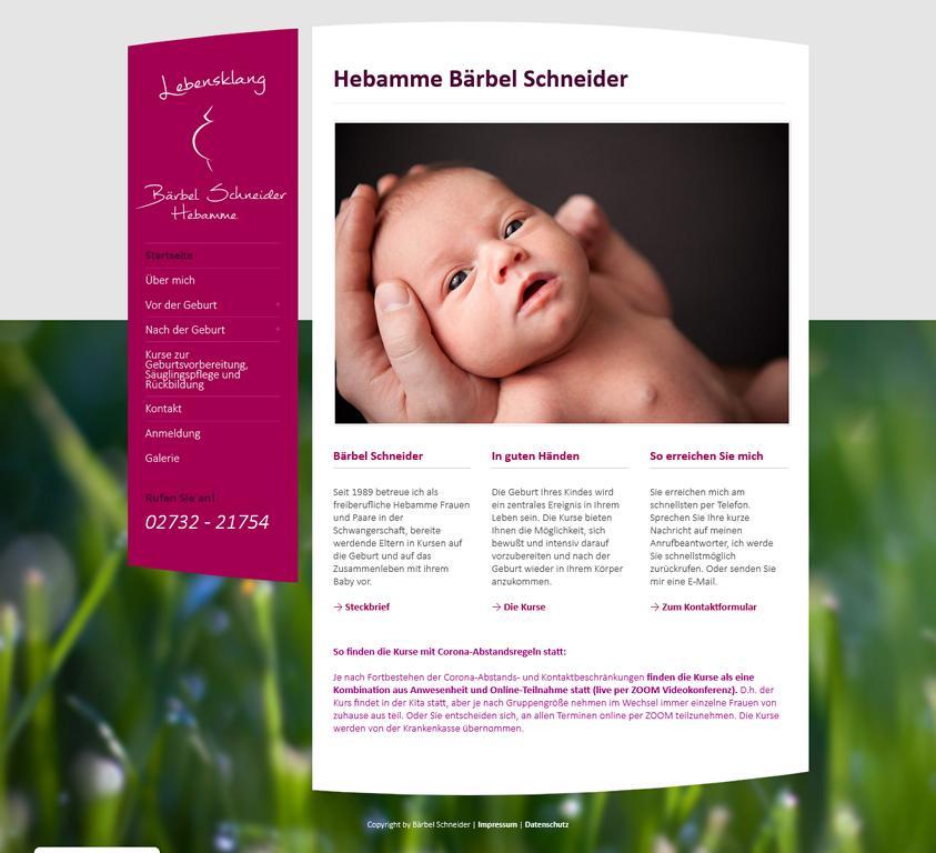 Webseite Hebamme Kreuztal